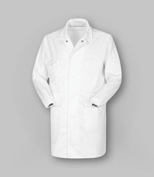 Camice da laboratorio antiacido e antistatico bianco