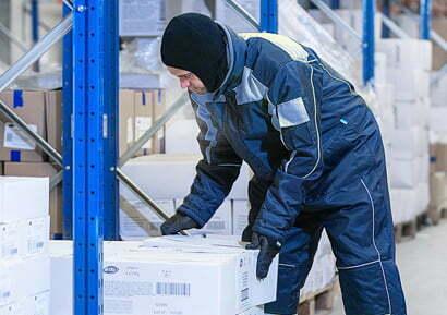 Abbigliamento da lavoro celle frigo, per ambienti freddi