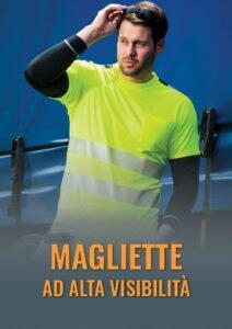 T-shirt e magliette ad alta visibilità per lavoro estivo in cantiere e movimentazione carichi. Certificato EN 20471