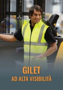 Gilet ad alta visibilità estivi e invernali, certificati EN 20147 per cantiere, movimentazione carichi e security