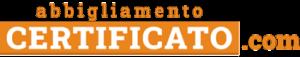 logo abbigliamento certificato arancione