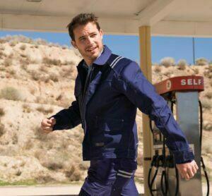 Giacca e pantaloni coordinati in blu di abbigliamento antinfortunistica pentavalente da uomo
