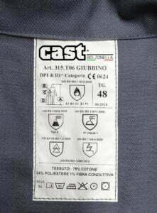 Etichetta capo certificato