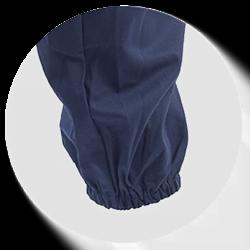 manica con elastico finale ristretta e aderente per abbigliamento antinfortunistica antimpigliamento
