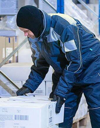 Abbigliamento di protezione di III Categoria per ambienti con bassa temperatura (-50°C)